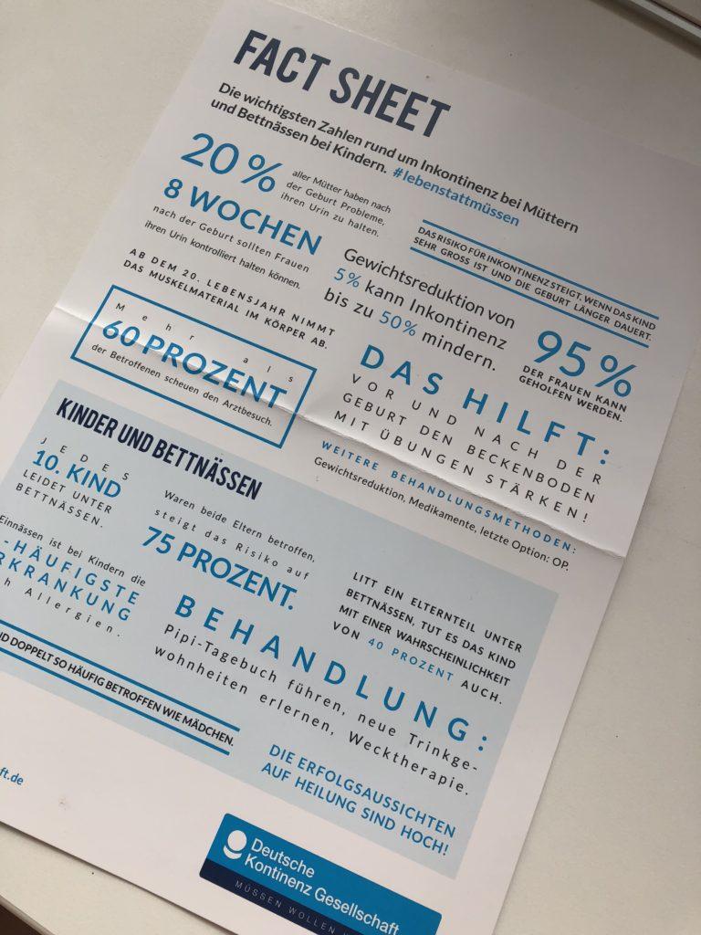 Inkontinenz nach der Geburt Fakten und Zahlen