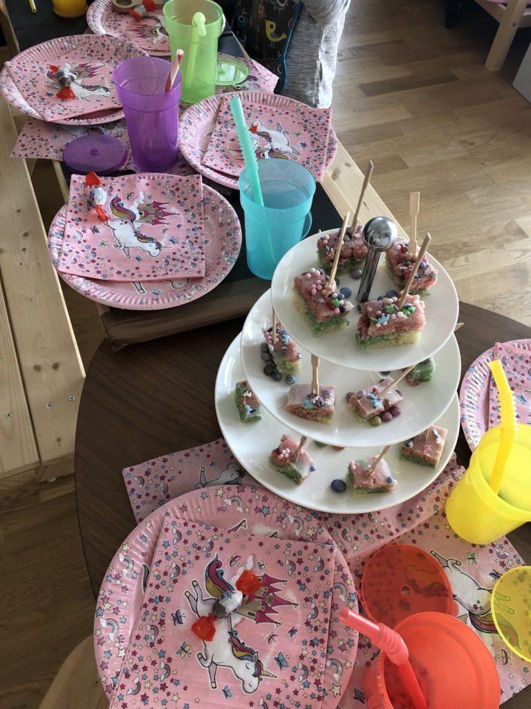 Kindergeburtstag Deko Einhorn Kuchen