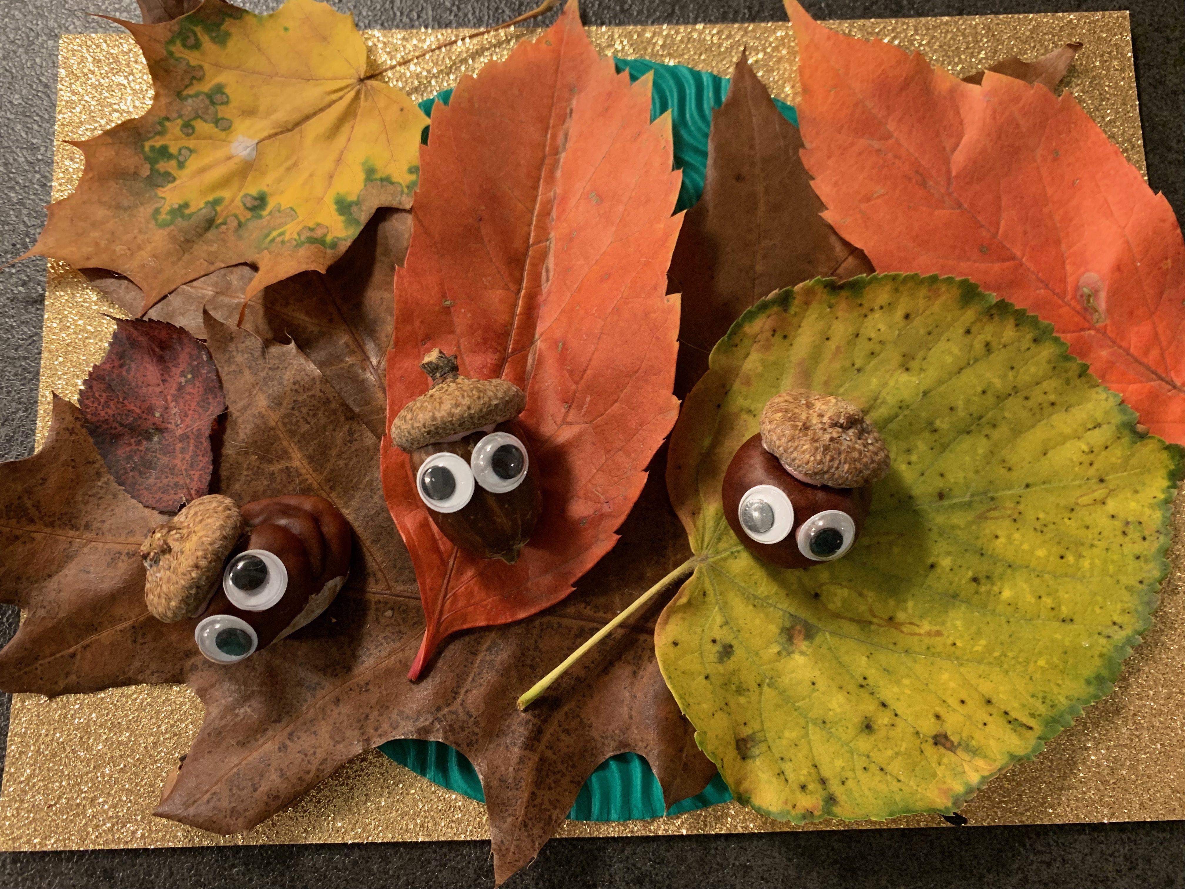 Herbstdeko basteln mit Kindern