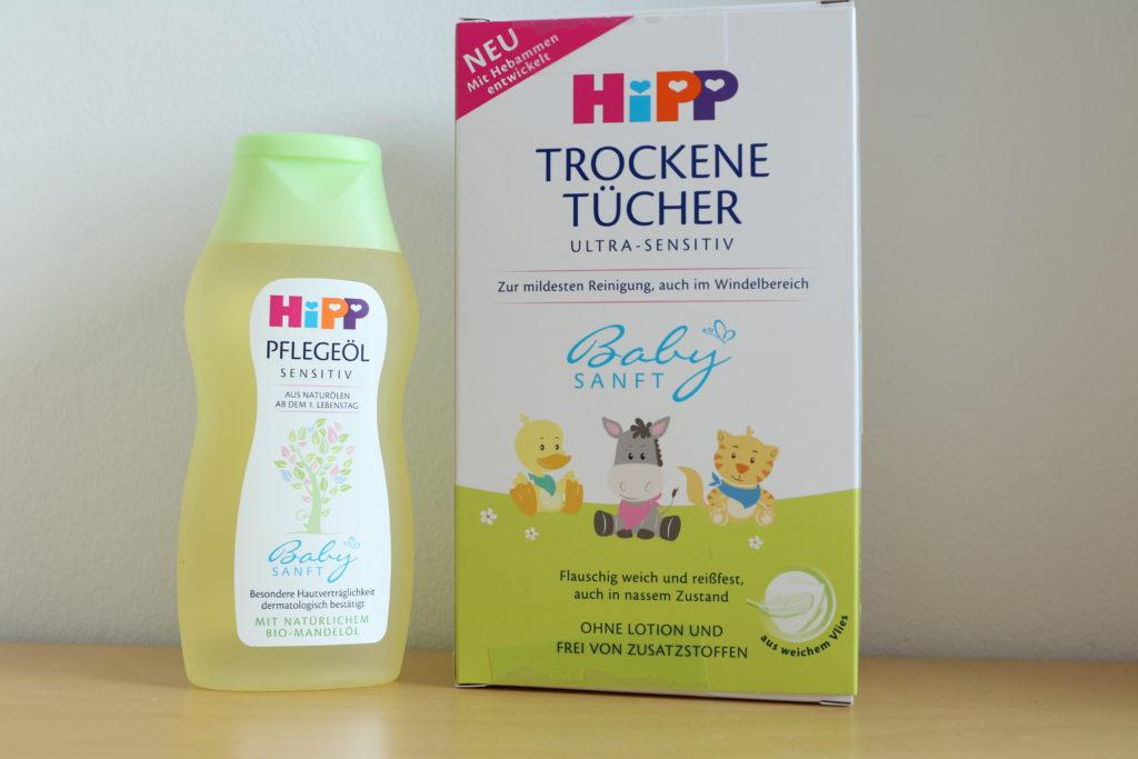 HIPP trockene Tücher und Pflegeöl
