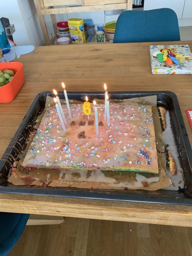 6. Geburtstag Kindergeburtstag Kuchen